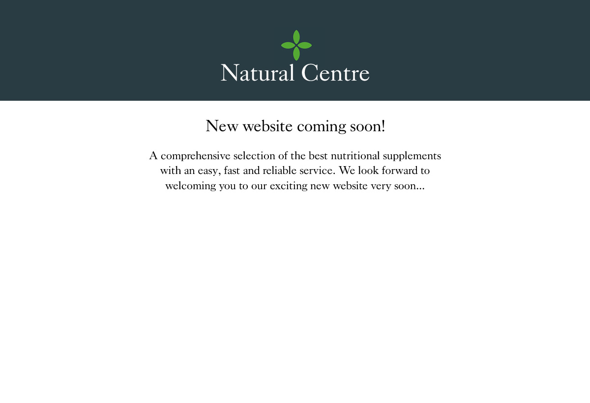 New website coming this May. A comprehensive selection of the best nutritional supplements with an easy, fast and reliable service. We look forward to welcoming you to our exciting new website very soon...